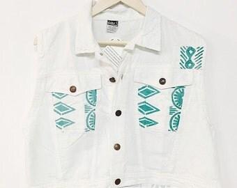 vintage 60s bohemian floral blouse