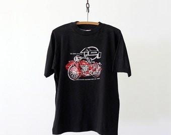 SALE vintage motorcycle t-shirt,  ADI
