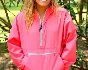 Monogram Rain Jacket Pullover Quarter Zip Light Weight