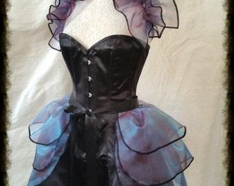 Burlesque Bustle Skirt  and Shrug SET Lolita PURPLE POISEN