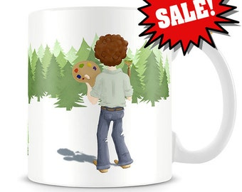 SALE - Bob Ross Mug - Bob Ross Coffee Mug with minor imperfections - Fathers day sale - Bob Ross Painting Mug
