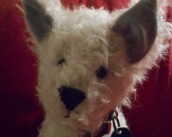 Handcrafted Mohair Dog
