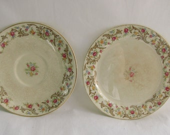 Vintage 1940s Taylor Smith Saucer and Dessert-Bread Plate