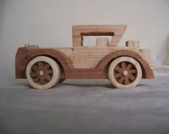 1931 Cadillac Antique Style Car Handcrafted Wood Toy for the Kids, Children or even Collectors