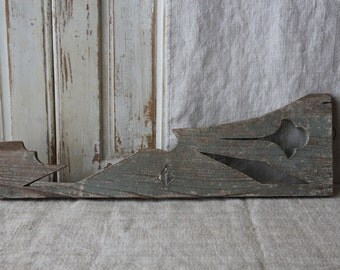 Light blue shabby patina architectural salvage