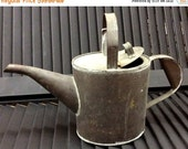 20% WINTER SALE Vintage Rusty Weathered Mini African Violet Flower Size Watering Can / Shabby Cottage Chic, Farm, Garden, Ranch, Summer Home