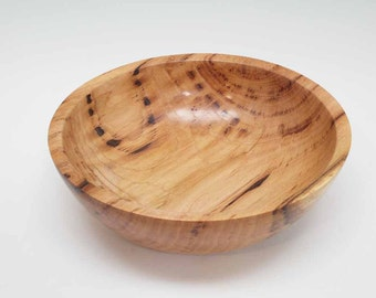 Bird Pecked Hickory Wood Bowl