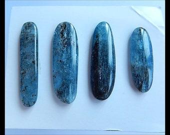 SALE,4 PCS Blue Kyanite Gemstone Cabochons,12.55g