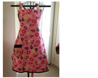 Lady bugs Full Bib Apron Ready to ship
