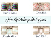 Interchangeable Bow™ - Removable, Interchangeable with Monograms, Chalkboard and Fleur De Lis
