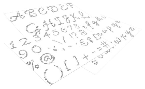il_570xN.1009738519_6eks Downloadable Rhinestone Template Letter Font on names summer, free svg, for use cricut, elegant script,