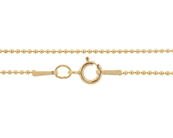 Ball Chain with clasp 14Kt Gold Filled 1mm 22 Inch  - 1pc (3661)/1