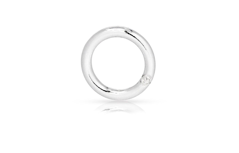 silver closed jump rings sterling silver 18gauge 6mm solder