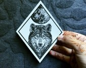 Wolf Patch Full Moon Iron On Patch Howling Wolf Fabric Iron-On Patch Patchgame Horned Owl Patch Owl and Moon Patch set