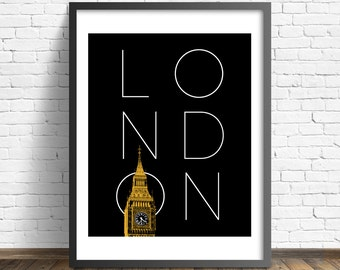 London Calling - Printable Art - Instant Download - 5 SIZES INCLUDED.