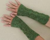 Mixed Green colour Wristwarmers - fingerless gloves - mittens - mits