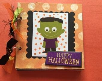 Halloween premade scrapbook  Halloween album  Halloween chip board album  premade scrapbooks