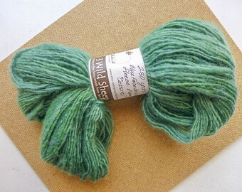 "Handspun Yarn from Wisconsin sheep ""Cassie""  Meadow Green.  230 yds (#241)"