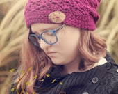 The Boysenberry Bliss Slouchy Hat Crochet Pattern