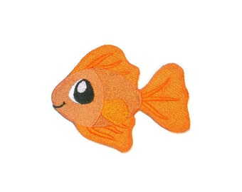 Goldfish iron on patch