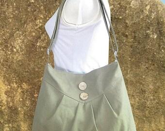 Summer Sale 10% off Olive green cross body bag / messenger bag / shoulder bag / diaper bag  - cotton canvas