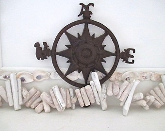 Nautical Whitewashed Driftwood Garland, Indoor/Outdoor. Beach Cottage by searchnrescue2.