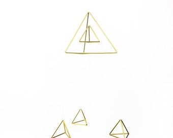 Triangles Baby Mobile - Scandinavian himmeli sculpture