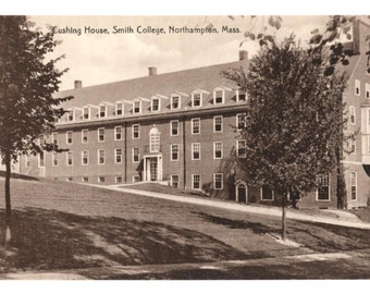 SMITH COLLEGE, Cushing House, Smith College, Northampton Massachusetts Vintage Unused Postcard, Women's College