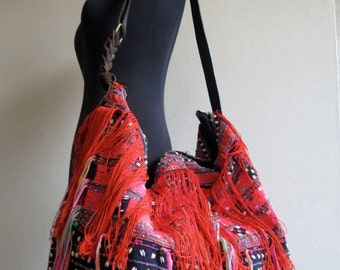 ON SALE, Ethnic Handmade Handbags- vintage fabric- Tote-bohemian bags and purses-from Thailand