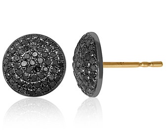 Black diamond Pave earrings