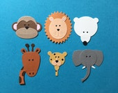 6 Zoo Animal Die Cut Set for Scrapbooking Cards and Paper Crafts Embellishment Safari Animals Wild Jungle Endangered