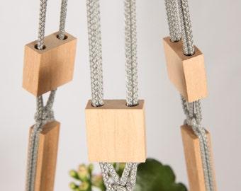 """Macrame Plant Hanger ~ Modern Beaded Hanging Planter ~ Macrame Planter 28"""" (70cm) ~ Modern Plant Hangers ~ Hanging Plant Holder ~ Home Decor"""