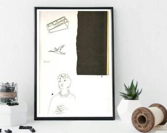 Minimalist Pen & Ink Print 11x14