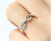 DNA Ring in 925 sterling silver /DNA Eternity Band Ring