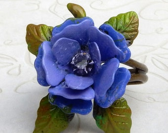 Rose Ring, Lavender Rose Ring, Rose Flower Ring, Lilac Rose Ring