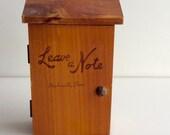 MINI Wood Note Mailbox or Keepsake Box