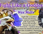 Fight Like a Goddess Hydrangia Hibiscus  Herbal Wax Melts for Magick, Prayer, Spells or Ritual