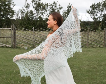 Mint Green Bridal Cover Up, Knit Bridal Shawl, Mint Green Wedding Cover Up, Bridal Gift, Evening Shawls and Wraps, Wrap Scarf, Gift for Her