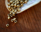 3mm, brass beads, spacer beads, mala beads, ball beads, india brass, jewelry making supplies, macrame, makrame supplies, ethnic beads, boho