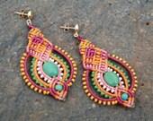 celebration earrings/ long earrings/ colorful earrings