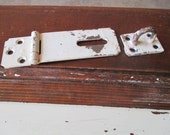 Vintage Iron Door Latch With Chippy Paint