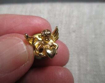 Vintage Angel Tie Tack - Lapel Pin