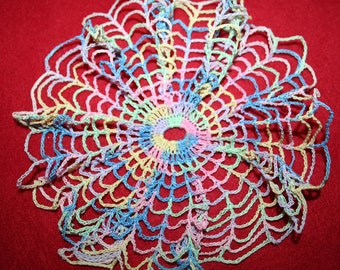 Vintage Hand Crocheted Doily- 6.5 inch