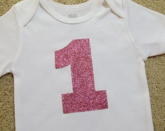 1st Birthday Girl Outfit, Baby Girl 1st Birthday Outfit, Girls First Birthday Outfits, Pink Glitter Bodysuit, Glitter Shirt, Silver, Gold