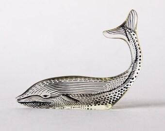 Vintage Abraham Palatnik Lucite Whale Figurine - 60s