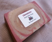CRANBERRY-goat milk soap-bath/shower bar- by Happy Goat