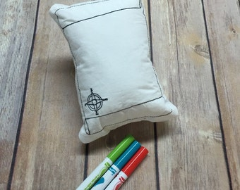 Doodle Pillow Washable Color Your Own Pillow Doodle Doll Treasure Map Stuffie