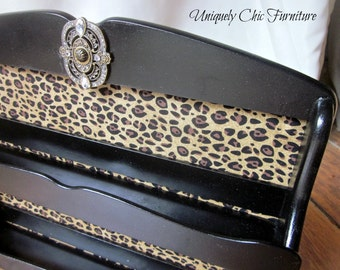 Leopard Black Shelf~Nail Polish Organizer