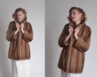 Vintage Mink Fur Wedding Coat - 1960s Stroller Length Fur - Winter Bridal Fashions