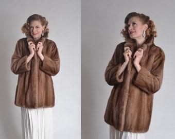 Vintage 1950s Mink Clutch Coat Autumn Haze Ed Hamilton Furs